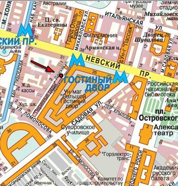 """Адрес: м. """"Невский проспект"""","""